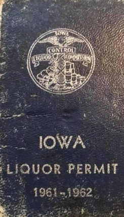 "Courtesy of Luann Williams Halter. ""Iowa Liquor Book, 1961-1962."" Lost Des Moines. Facebook. 27 March 2018. Accessed: 23 February 2020."