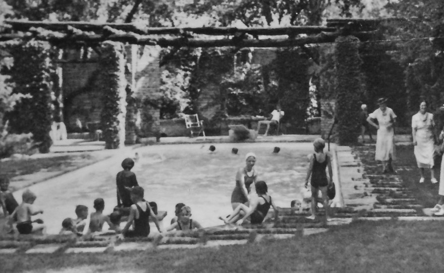 Terrace Hill Pool Party, 1937